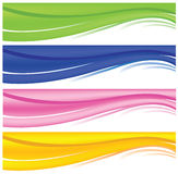 Web banners. A set of web banners of different colors Vector Illustration