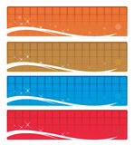 Web banners. A set of colorful web banners Stock Images