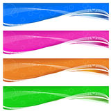 Web banners. A set of colorful web banners of swirls and circles designs Royalty Free Stock Photo