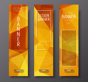 Web banners with abstract polygonal background Stock Images