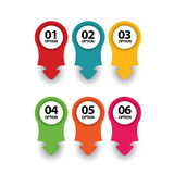 Web banners/arrows/direction in numbers Stock Images