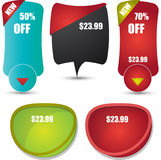 Web banners and badges Stock Image