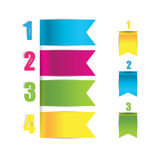 Web banners and bookmarks in numbers Stock Images