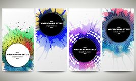 Web banners collection, abstract flyer layouts Stock Photos
