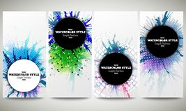 Web banners collection, abstract flyer layouts Royalty Free Stock Images