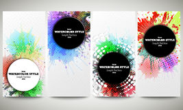 Web banners collection, abstract flyer layouts Stock Image