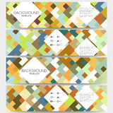 Web banners collection, abstract header layouts Stock Photos
