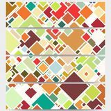 Web banners collection, abstract header layouts Stock Photo
