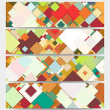 Web banners collection, abstract header layouts Royalty Free Stock Photography
