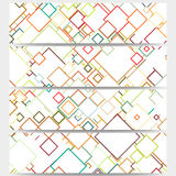 Web banners collection, abstract header layouts Stock Images
