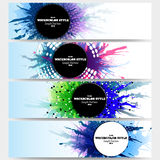 Web banners collection, abstract header layouts Royalty Free Stock Photos