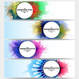 Web banners collection, abstract header layouts Royalty Free Stock Photo