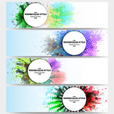 Web banners collection, abstract header layouts Royalty Free Stock Image