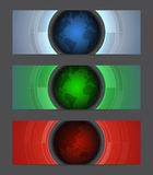 Web banners with globes. RGB. Vector contains transparent objects, blends and clipping mask Royalty Free Stock Image