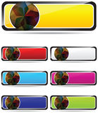 Web banners. Nice web banner swirth different colors Royalty Free Stock Photos