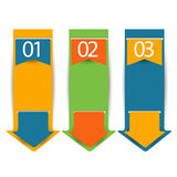 Web banners in numbers.Eps.Vector Stock Image
