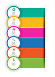 Web banners in numbers.Eps.Vector Royalty Free Stock Photo