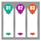 Web banners in numbers.Eps.Vector Stock Photography