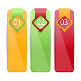 Web banners in numbers.Eps.Vector Royalty Free Stock Photos