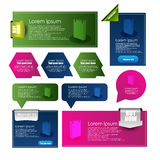 Web banners and pointers Royalty Free Stock Photos