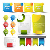 Web banners and pointers Stock Photography
