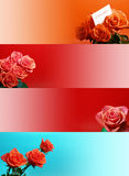 Web banners with rose Royalty Free Stock Image