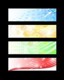 Web Banners Set. Colorful abstract web banners design Stock Photo