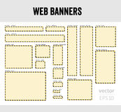 Web banners Royalty Free Stock Photography