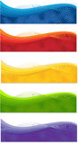 Web banners. A set of web banners of different colors Royalty Free Stock Image