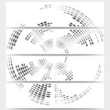 Web banners set of header layout templates, circle Royalty Free Stock Image