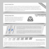 Web Banners and Sliders vector illustration