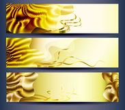 Web banners templates abstract backgrounds Royalty Free Stock Image