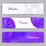 Web Banners With Violet Lotus Stock Photo