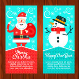 Web banners with winter leisure symbols Royalty Free Stock Image