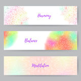 Web Banners With Mandala1 Stock Images