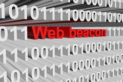 Web beacon. In the form of binary code, 3D illustration stock illustration