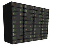 Web-Bewirtungs-Server-Zahnstange auf Weiß Stockbild