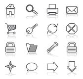 Web black on white icons stock image