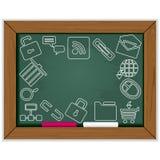 Web blackboard frame Stock Photo