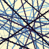 Web of blackthorn abstract background Stock Photography