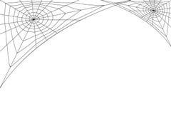 Web blanco concéntrico en un fondo blanco Foto de archivo