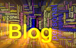 Web blog background concept glowing Royalty Free Stock Image