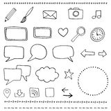 Web and blog icons Royalty Free Stock Photos