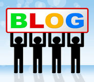 Web Blog Indicates Websites Blogger And Blogging Royalty Free Stock Image