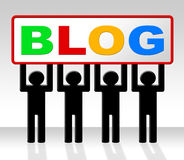 Web Blog Means Network Blogger And Online Royalty Free Stock Photo