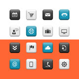 Web and blogging buttons Stock Image