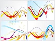 Web blu astratto con l'insieme del Rainbow Immagini Stock