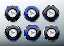 Web blue buttons Royalty Free Stock Images