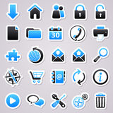 Web blue stickers Stock Photography
