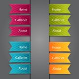 Web Bookmarks. Vector illustration Royalty Free Stock Photo